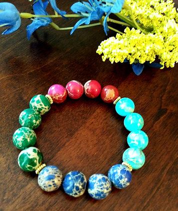 Colorful Sea Sediment Bracelet