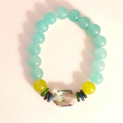 Aqua Glass Bead
