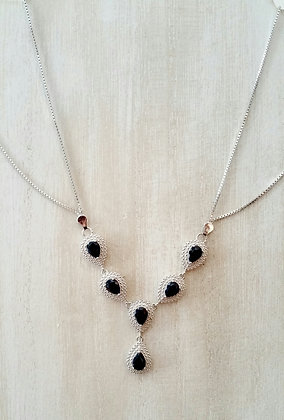 Blue Sapphire Diamond Accent Necklace