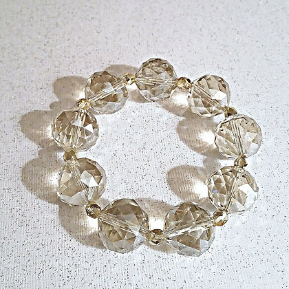 Faceted Glass Bracelet