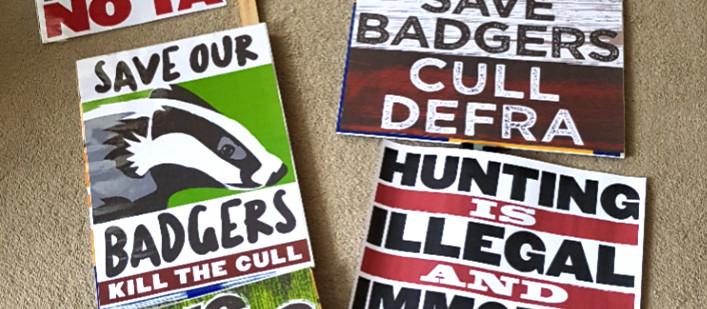 Protest signage