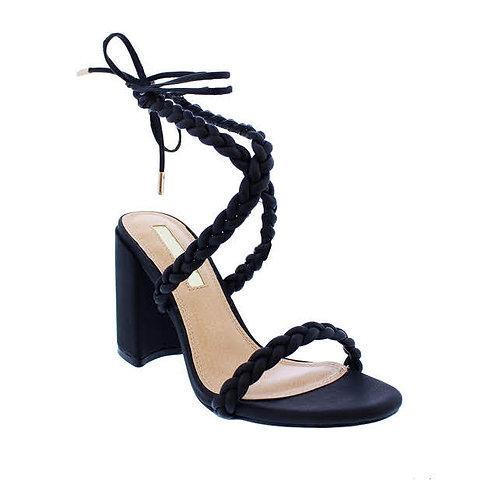 Black Nitch High heels by DV8 Shoes