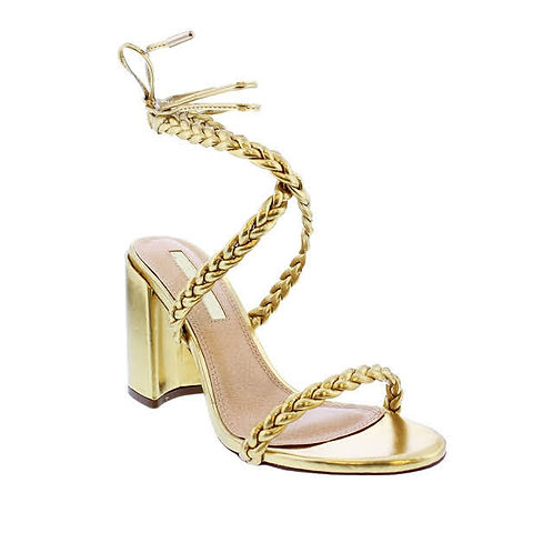 Golden Nitch High heels by DV8 Shoes