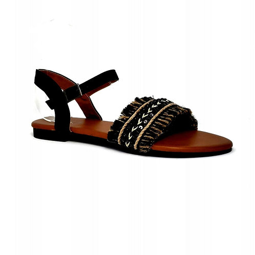 Black Bohemian II Sandals By DV8 Shoes