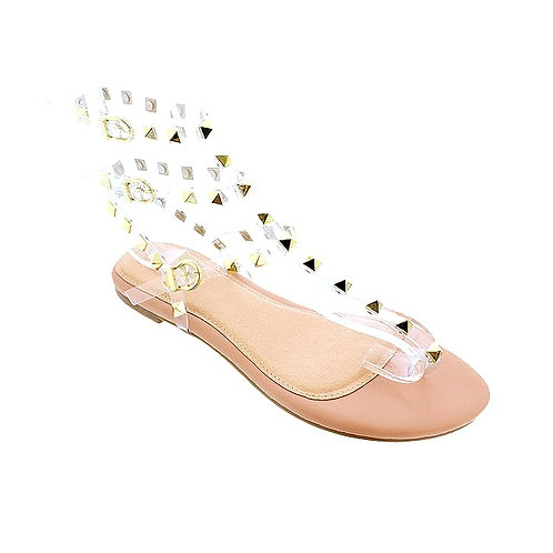 White Nip Sandals By DV8 Shoes