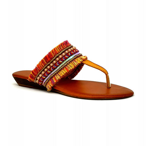 Orange Bohemian Sandals By DV8 Shoes