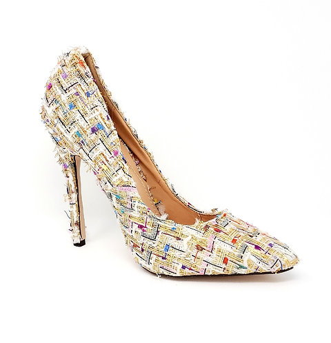 Aria, Nude multi color high heels