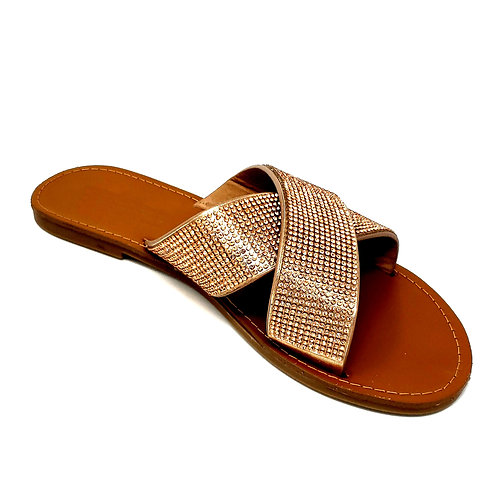 Golden Shine Sandals By DV8 Shoes