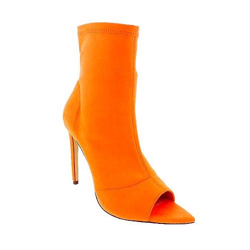 Fashionable Peep Open Toe Cutout Stiletto Bootie Laurent