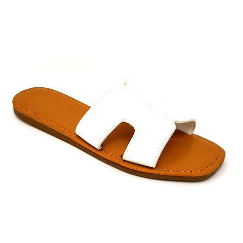 White Hermi Sandals By DV8 Shoes