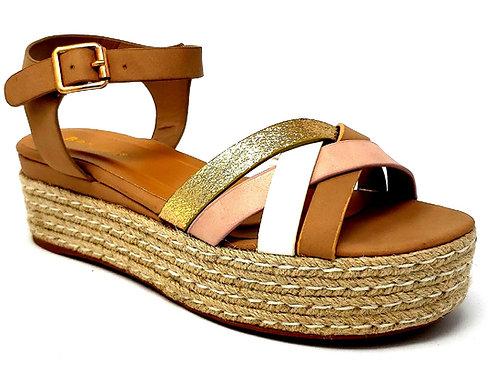 Women's Espadrilles Platform Sandal with Quarter Strap