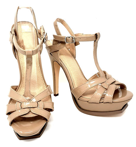Suzi Nude High Heels By DV8 Shoes