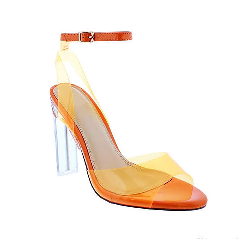 Sammy Orange High Heels By Dv8 Shoes