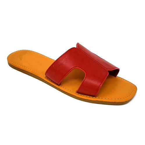 Red Hermi Sandals By DV8 Shoes
