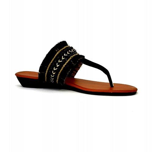 Black Bohemian Sandals By DV8 Shoes