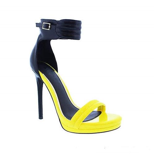 Yellow Honey High Heels by DV8 Shoes