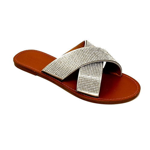 Silver Shine Sandals By DV8 Shoes