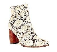 Snake Print Eithel Ankle Boots By DV8 Shoes