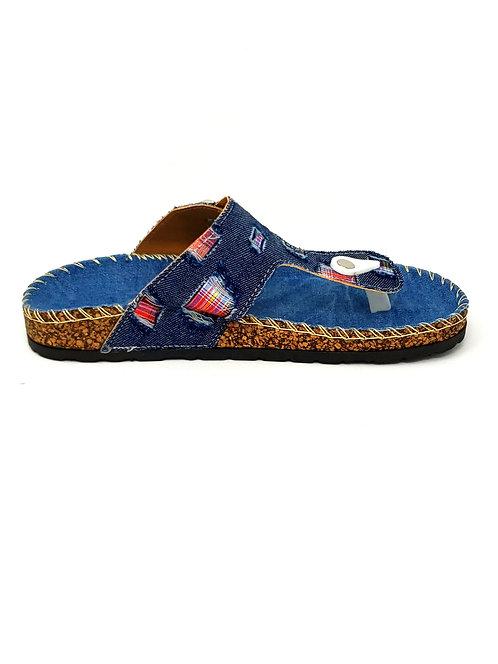 Denim Flat Sandals By DV8 Shoes