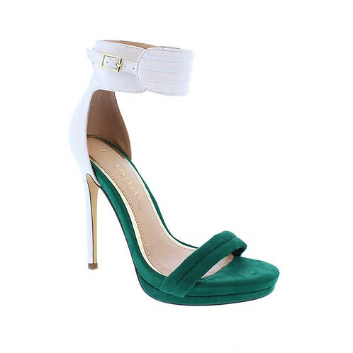 Green Honey High Heels by DV8 Shoes