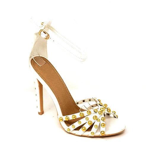 Golden Studded High Heels By DV8