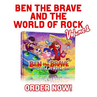 Ben the brave children's book for music