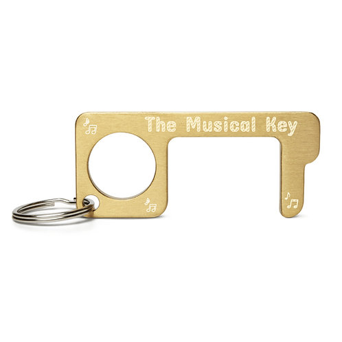 Engraved 'Musical Key' Brass Touch Tool