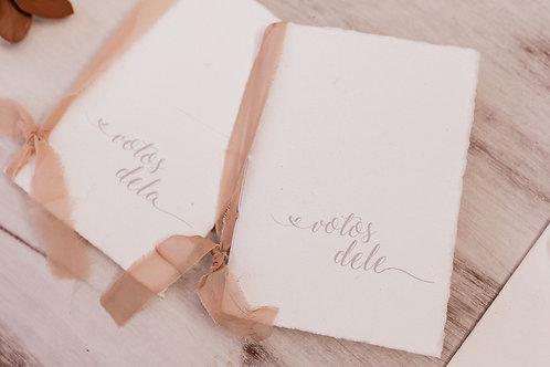 Kit Caderno de Votos Florence