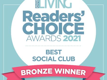 Bronze Winner for Expat Living's Reader's Choice Awards: 2021'S Best Social Club