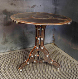 Rust End Table