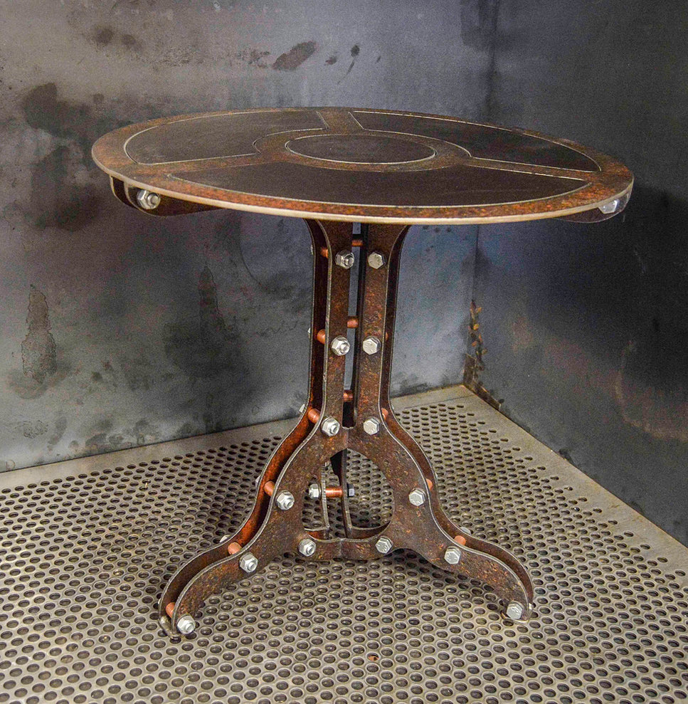 steampunk end table machine brothers steampunk lighting steampunk furniture 694