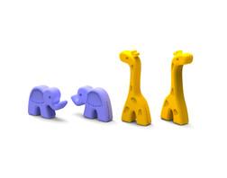 Elephant & Giraffe Chopstick Heads