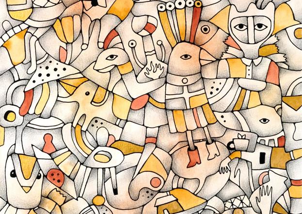 """""""Carnival"""" - original watercolor painting by Yuliia Orlova"""