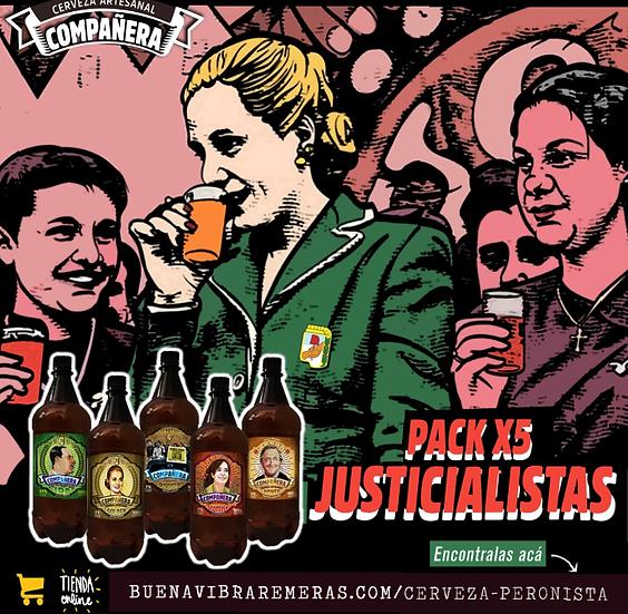 PACK JUSTICIALISTAS x 5 + estampita peronista