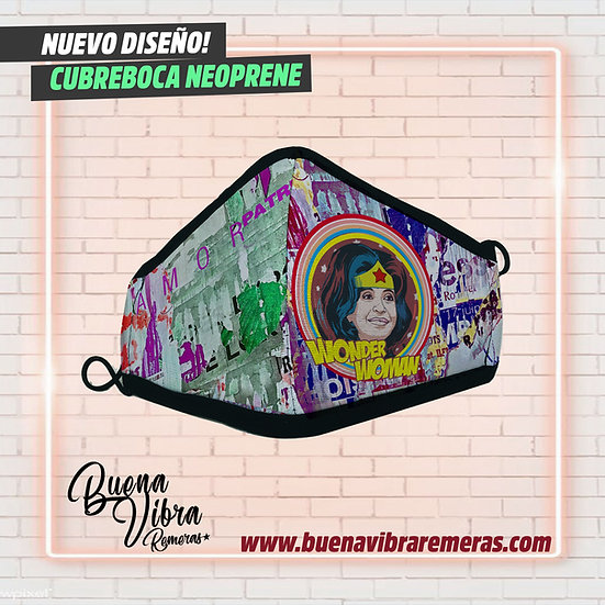 CUBREBOCA CFK WONDER WOMAN