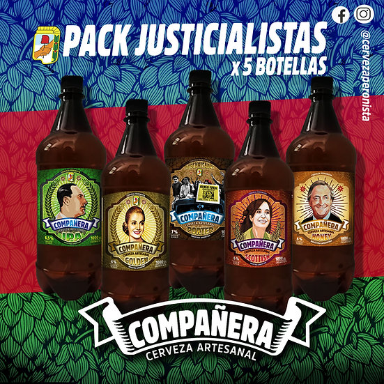 PACK JUSTICIALISTAS x 5