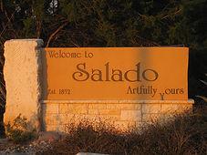 Salado village sign.