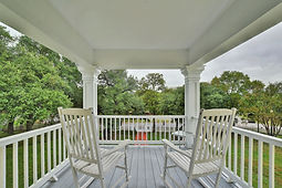 View of open porch of main house.