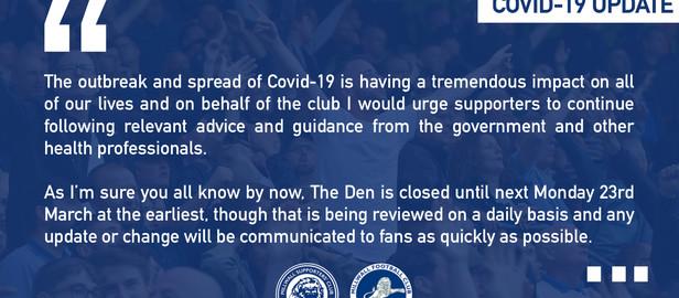 COVID-19 Club Update