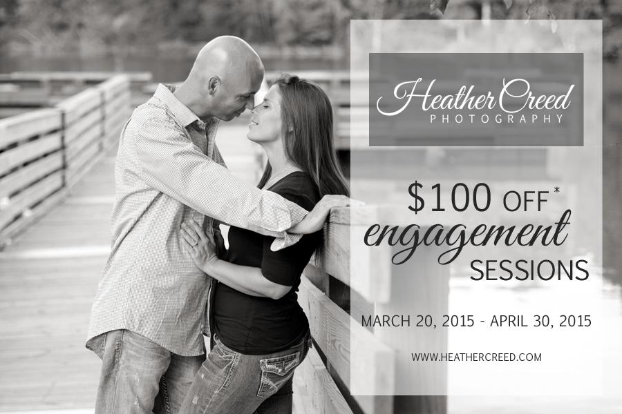 greensboro, north carolina, engagement, session, $100 off