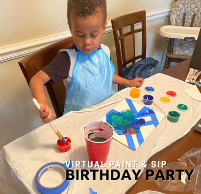 "How to Throw a Virtual ""Paint & Sip"" Birthday Party for Kids"