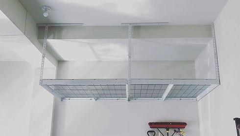 DIY Overhead Garage Storage Racks