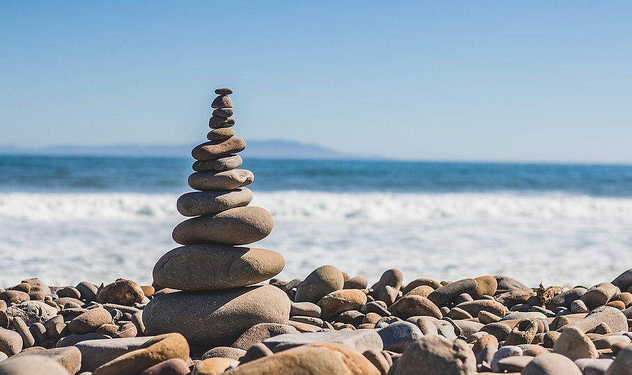 Relaxing and therapeutic stacked stones