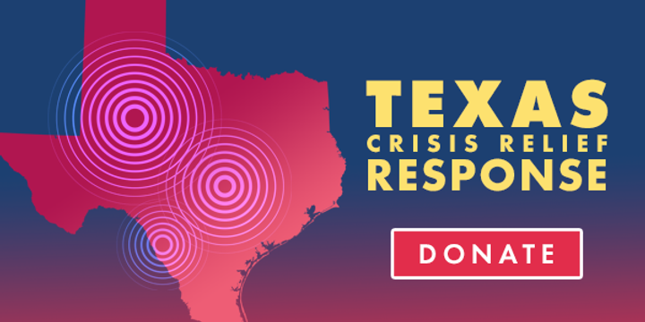 Texas Crisis Relief red state of Texas outline