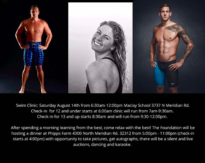 The swim clinic will be Saturday August