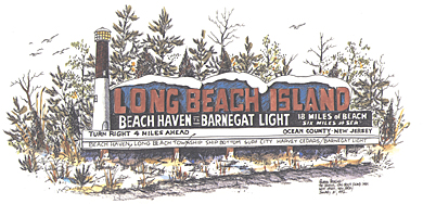 The Old Long Beach Island Sign
