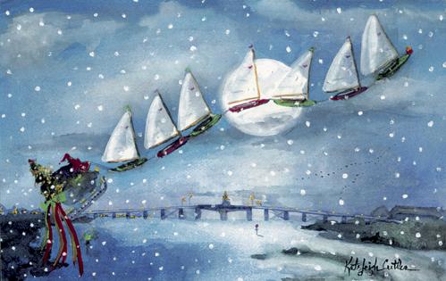 Sailing Over The Mantoloking Bridge