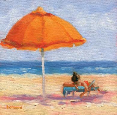 Orange Umbrella (Surf City)