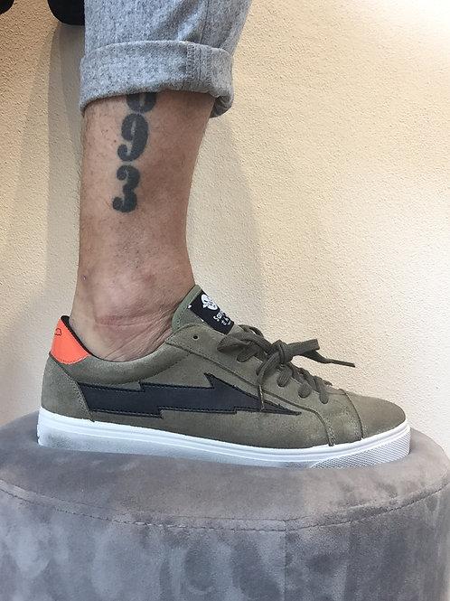 Sanyako sneaker leather military