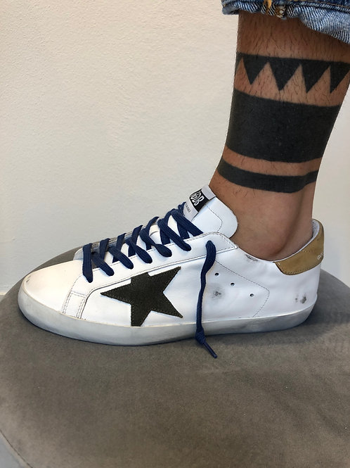 Golden Goose Superstar wht/brown star
